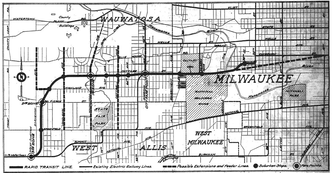 mke rapid transit map